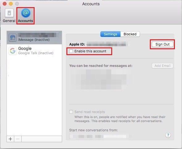 Как отключить iMessage на Mac