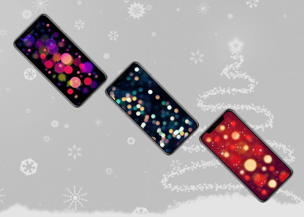 новогодние обои на айфон X, 8, 7