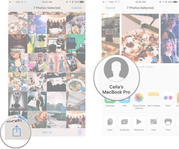 Как быстро отправить свои фотографии, видео на Mac