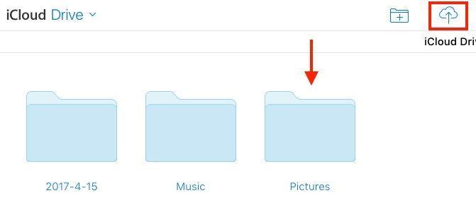 Как сохранить фотографии на iCloud Drive с компьютера через iCloud.com