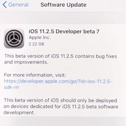 iOS 11.2.5 beta 7