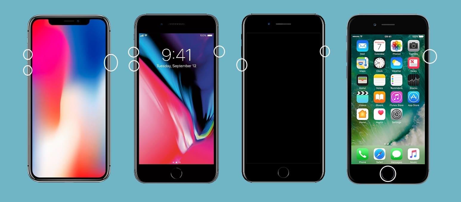 как перезагрузить айфон