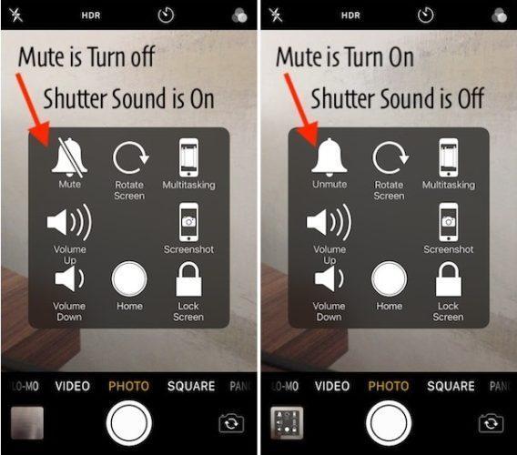 Как отключить звук камеры на iPhone
