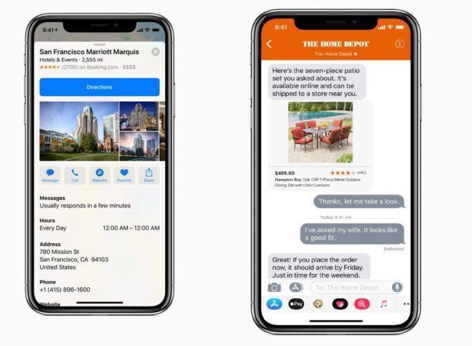 Функция бизнес-чат (бета-версия) на Айфон iOS 11.3