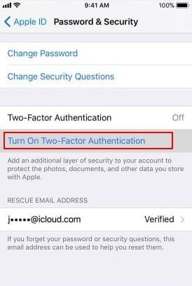 двухфакторная аутентификация iphone