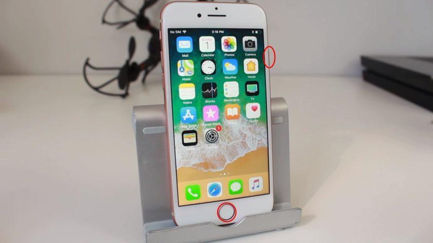 как сделать скриншот экрана на айфоне 8
