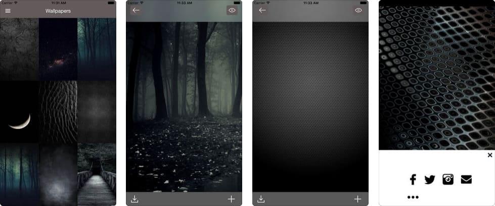 темные обои для iphone x