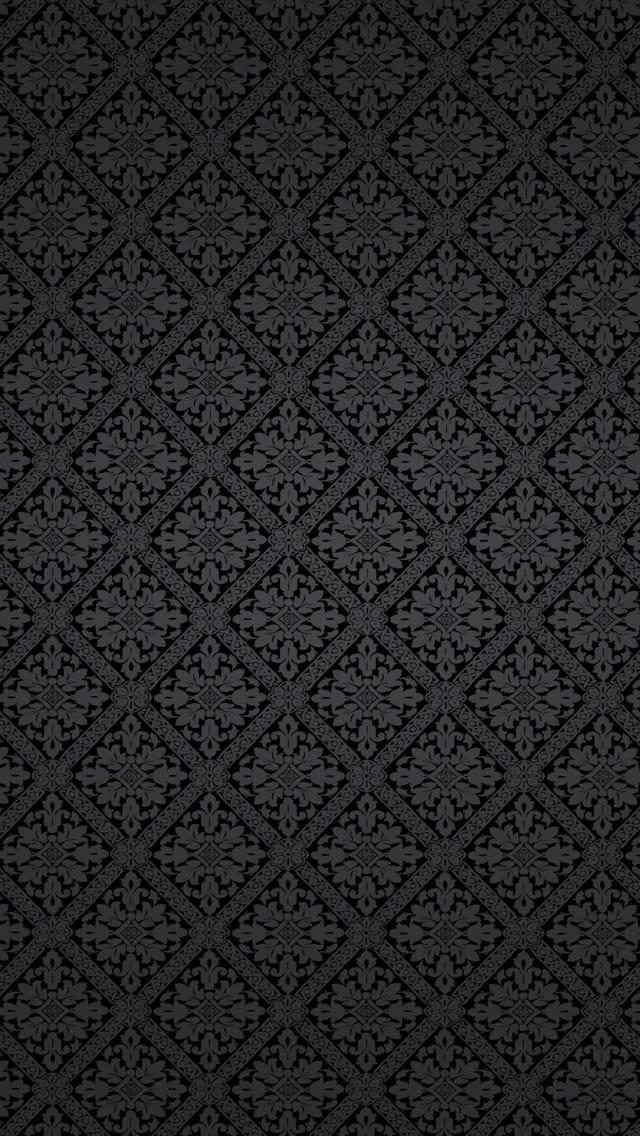 обои iphone цветок на черном фоне