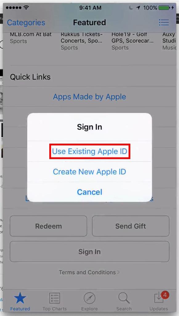 как выйти из app store на iphone
