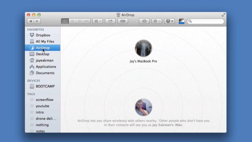 как включить airdrop на mac
