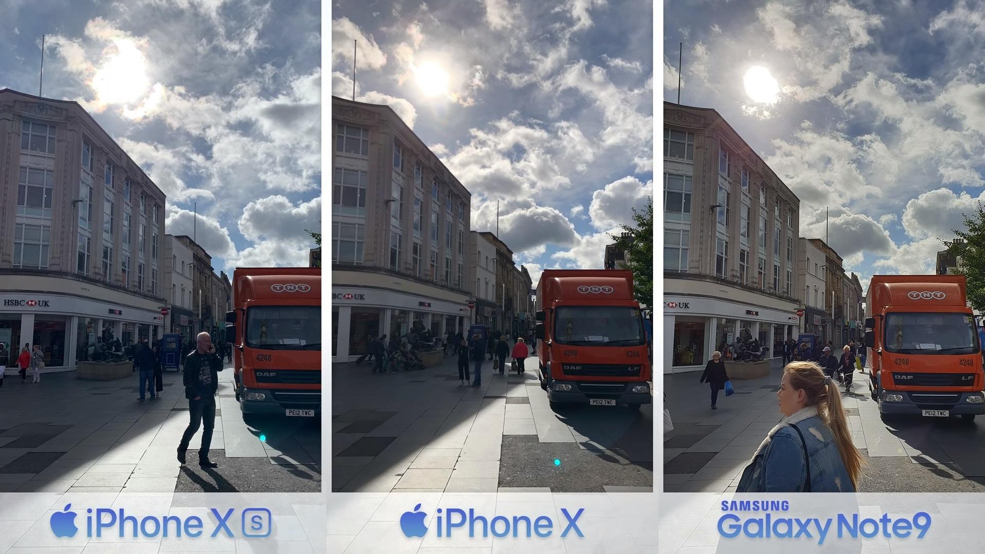 сравнение камеры iphone XS