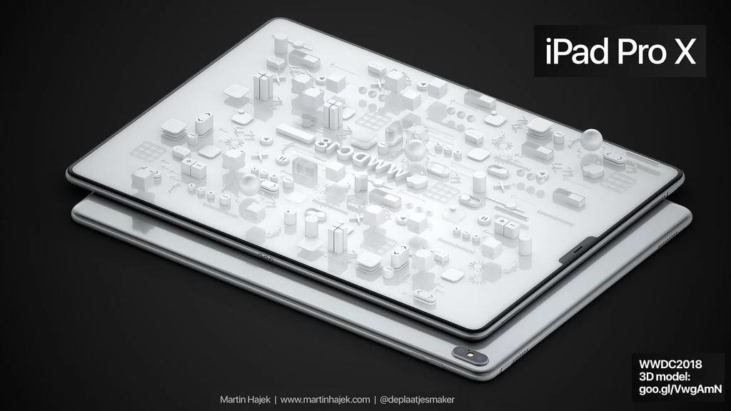 iPad X Pro 2018: Иллюстрации концепции